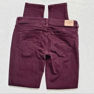 Abercombie & Fitch   Dark Red Skinny Jeans